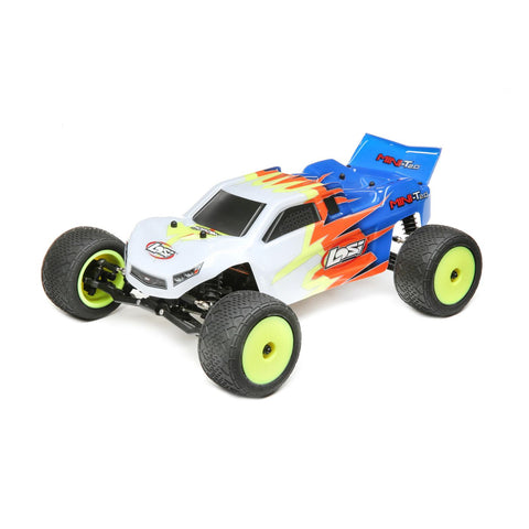 Losi Mini-T 2.0 Brushed 1/18 2WD Truck RTR, Blue/White, LOS01015T2