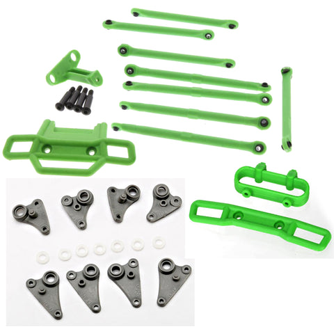 Traxxas 1//16 VXL E-Revo Front Rear Push /& Tie Rods Toe Link Turnbuckle Ball Ends