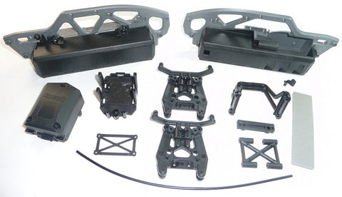 HPI Racing 1/16 Mini Savage XS Flux Chassis, Battery Cover, & Receiver Box
