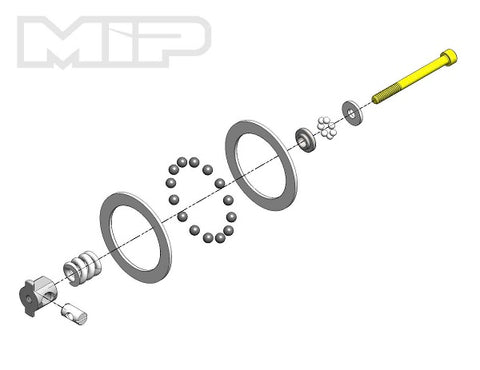 MIP Super Diff Rebuild Kit, Carbide, All Team Assoc.,