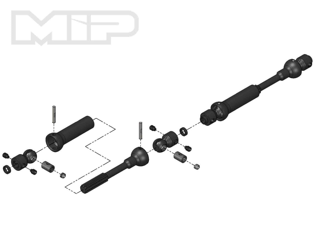 MIP18120 18120 Center Drive Kit, Axial SCX10