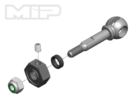 MIP CVD Axle, X-Duty, 10mm Offset, 5mm Bearing, 18141