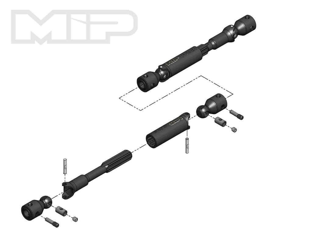 MIP18250 18250 HD Driveline Kit, TRX-4 Bronco