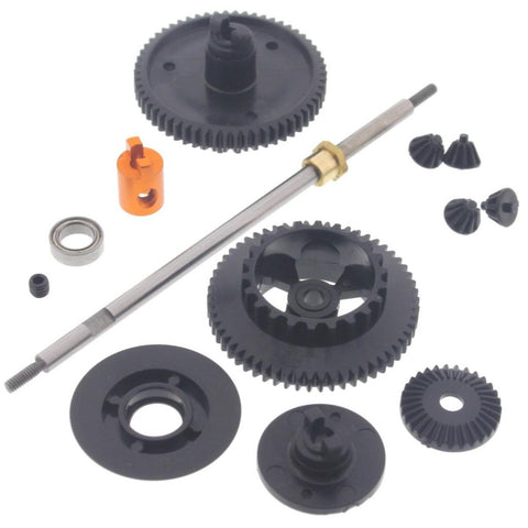 HPI Racing 1/10 Micro RS4 Drift & Touring Differential Gears, Rear Axle, Hub & Spur