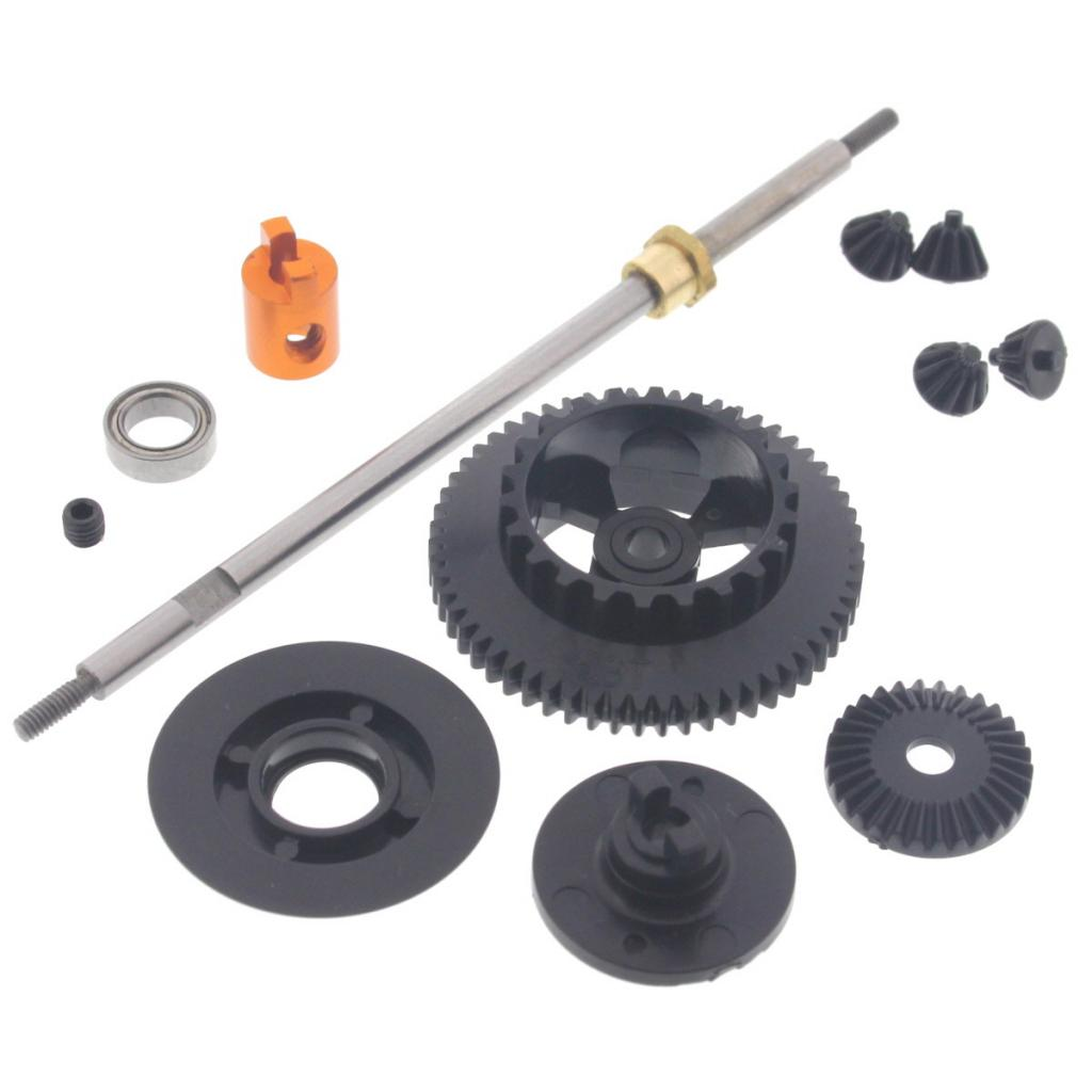 mRS4 Diff Rear Tour 111224 Touring Differential Gears, Rear Axle, Hub & Spur