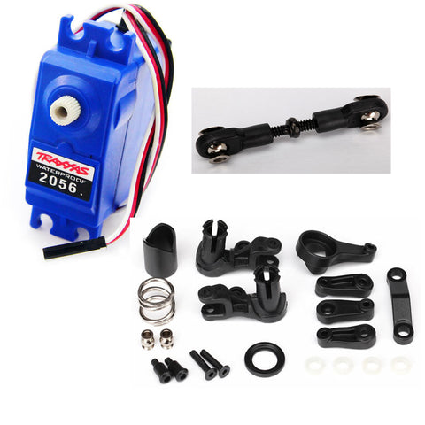 Traxxas 1/10 Stampede 2WD XL-5 2056 High Torque Waterproof Servo, Linkage & Saver