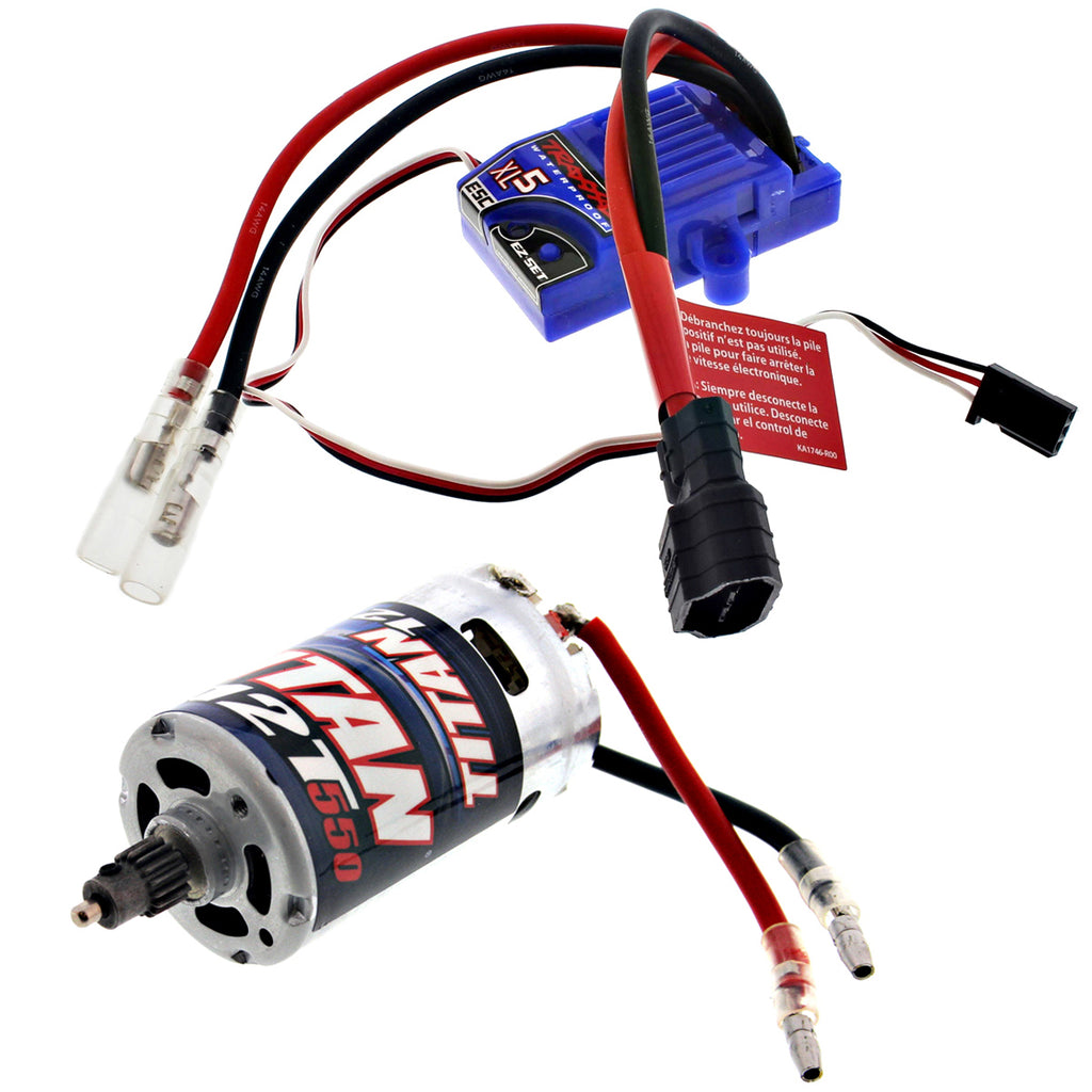 Pede ESC 3018R XL-5 Low Profile Waterproof ESC & Titan 550 Motor