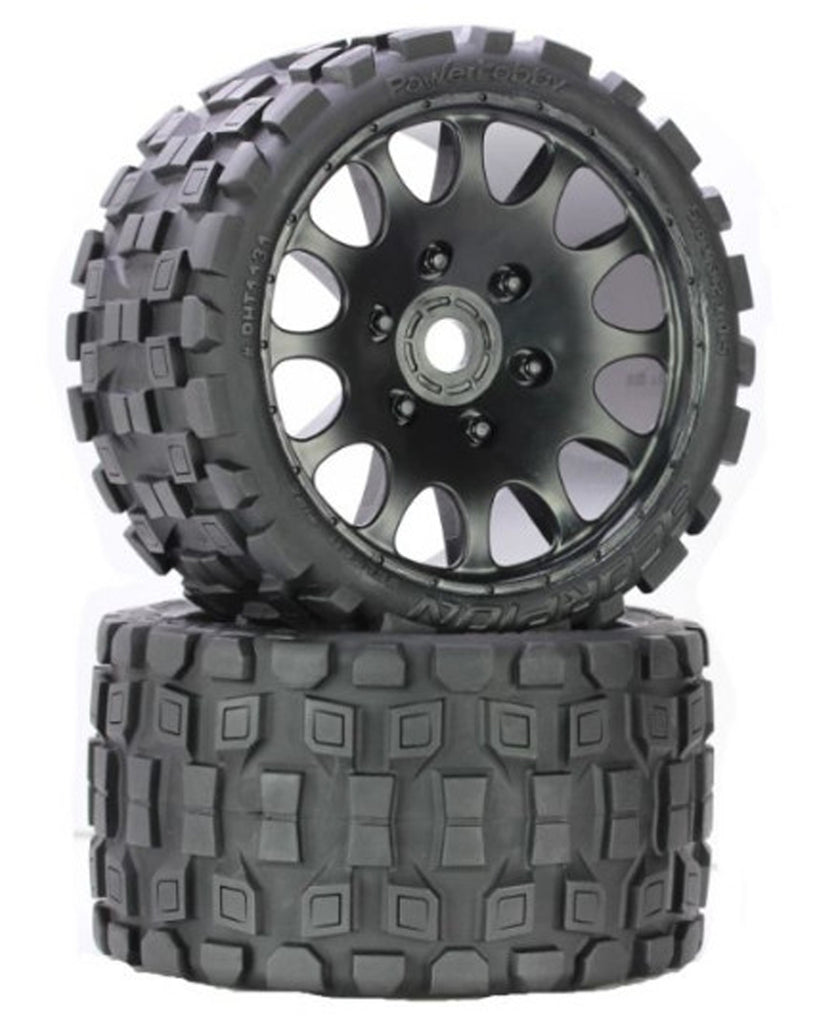 PHBPHT1131R PHT1131R Scorpion Belted Monster Truck Wheels / Tires