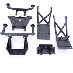 Traxxas Front & Rear Skid Plates, Shock Towers, & Body Mounts 3639 1914R 2530 3638 5837 4859