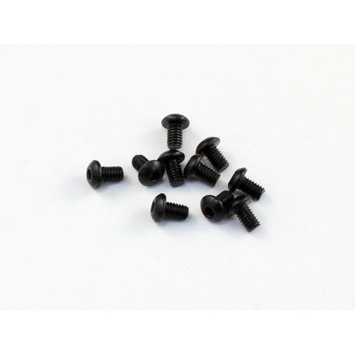 ROC530011 530011 Roundhead Screws, 2.5x4mm, Black