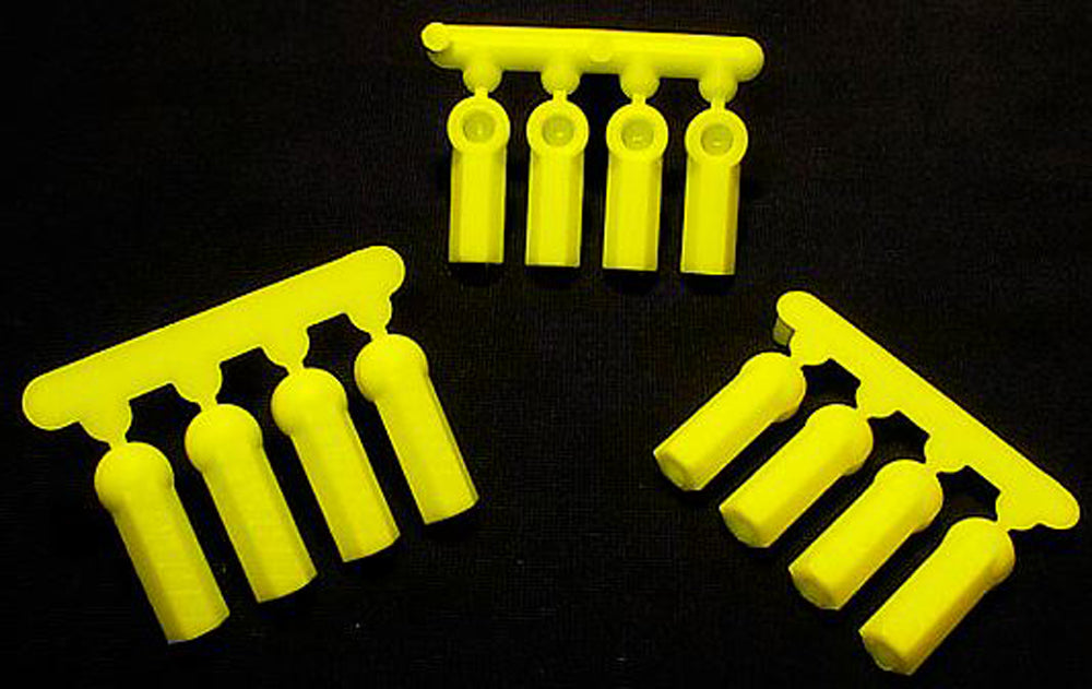 RPM73377 73377 12 Heavy Duty Rod Ends 4-40 - Yellow