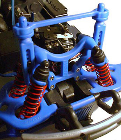 RPM Shock Tower/Body Mounts - Blue, 80165