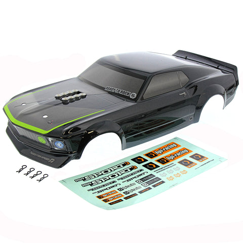 HPI Racing 1/10 RS4 Sport 3 & Drift Ford Mustang 1969 RTR-X Body, Decals, & Clips