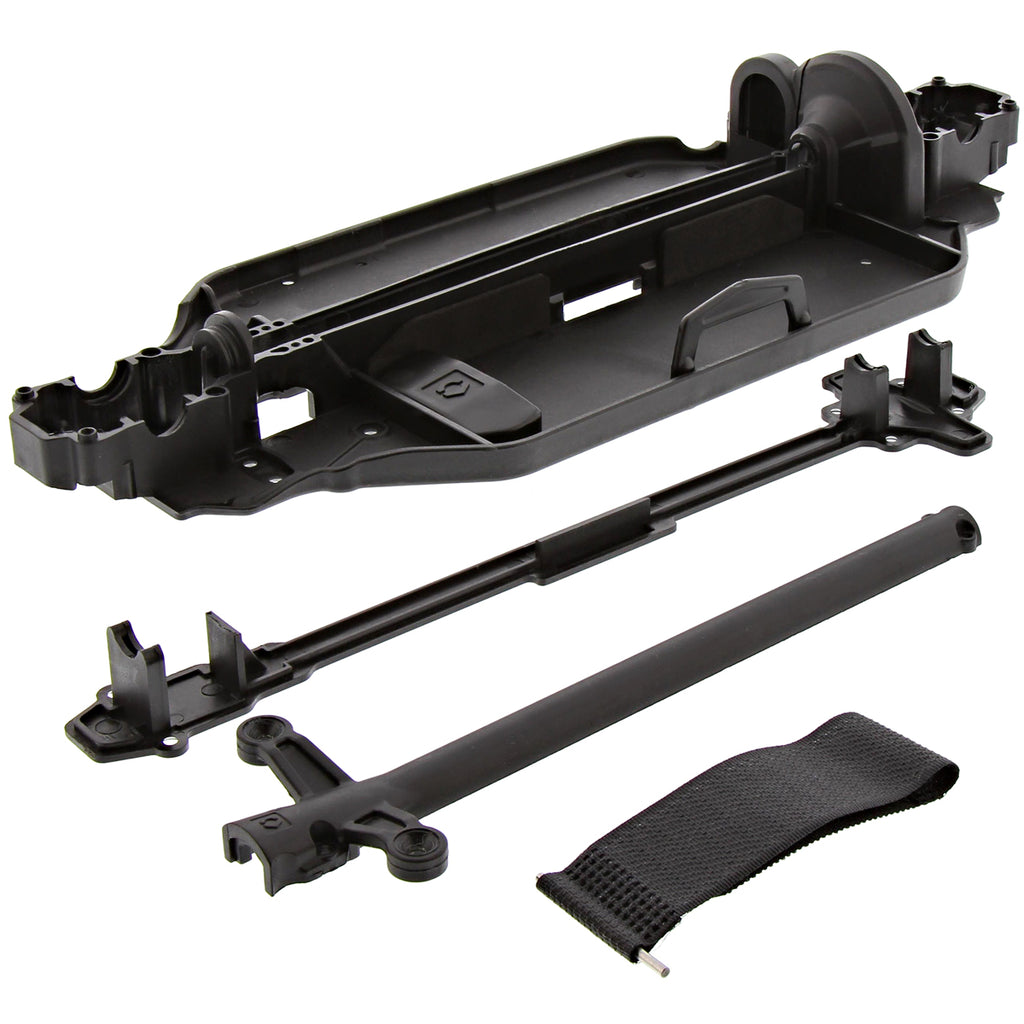 RS4s Chassis 114343 Chassis, Drive Shaft Covers & Battery Strap