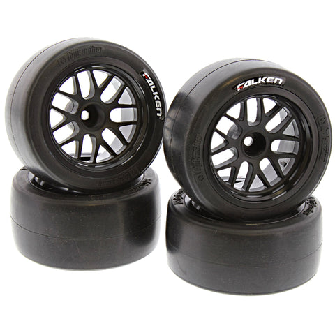 HPI Racing 1/10 RS4 Sport 3 & Drift Falken Azenis Slick Tires & BBS Spoke Wheels