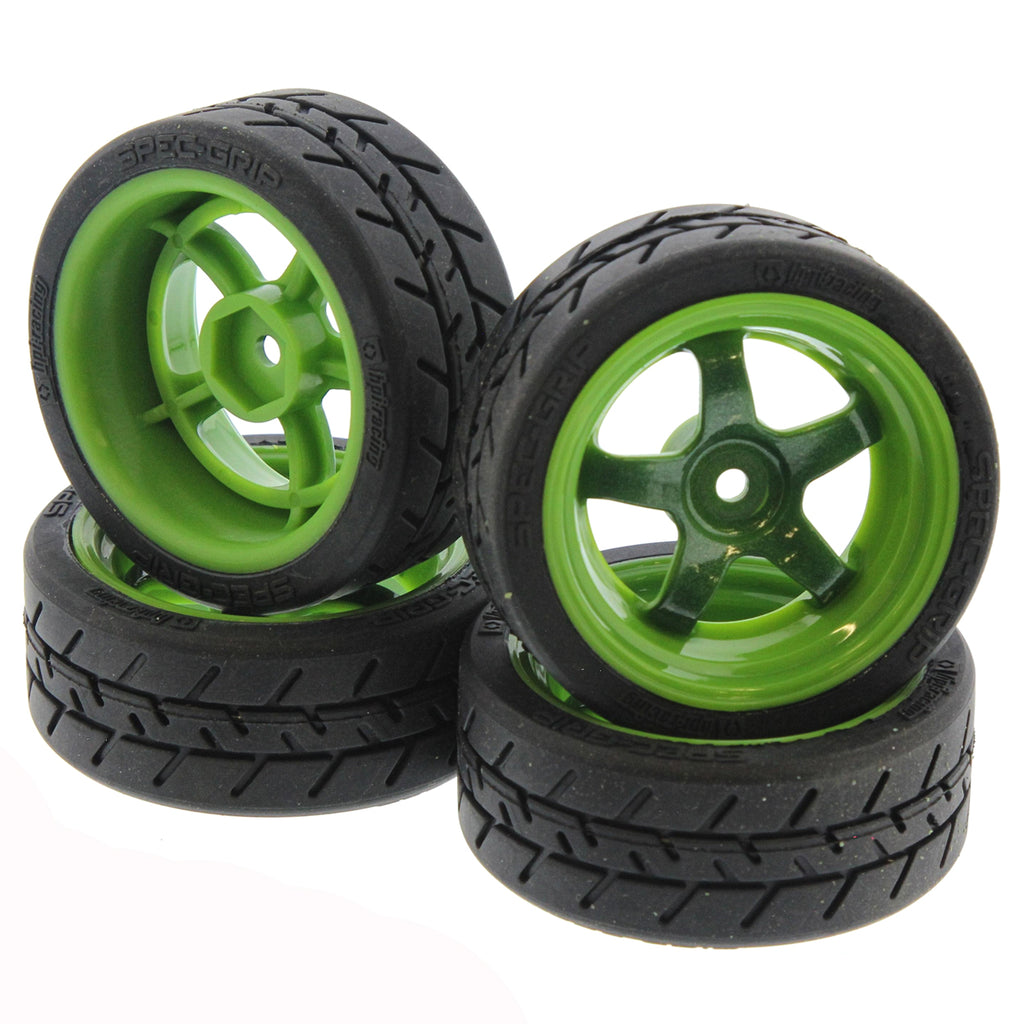 RS4s Tires Grn 120102 Green Work Meister S1 Wheels & Spec-Grip Tires