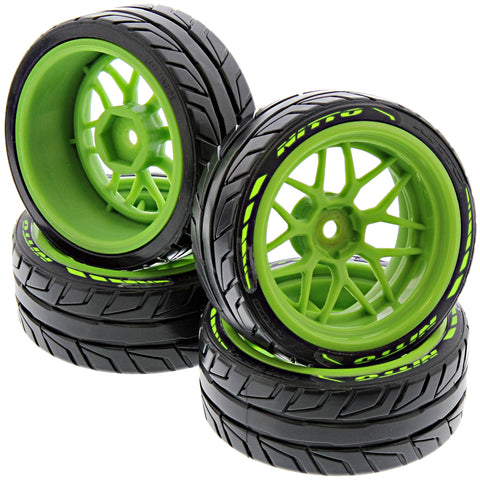 HPI Racing 1/10 RS4 Sport 3 & Drift Nitto NT05 T-Drift Tires & Tech 7 Green Wheels