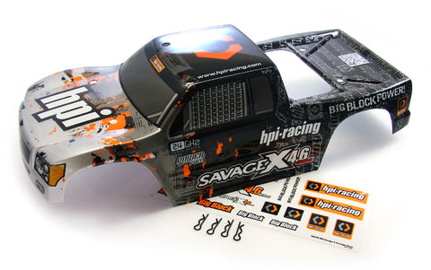 HPI Racing 1/8 Savage X 4.6 Black & Gray Body
