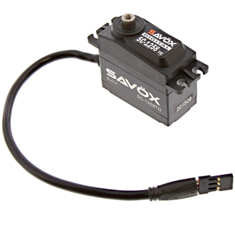 Savox Black Edition Coreless 6.0v Digital Servo .08/166, SC-1258TG-BE