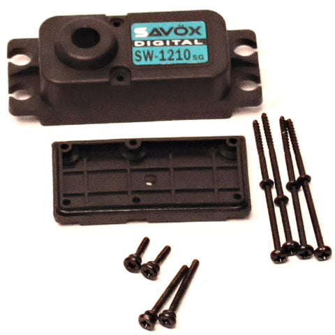 Savox Top & Bottom Replacement Servo Case w/ 4 Screws, SAV-CASE-SW1210SG