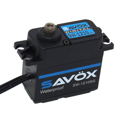 Savox Waterproof HV Coreless Digital 6.0V Servo, Black Ed., SW-1210SG-BE