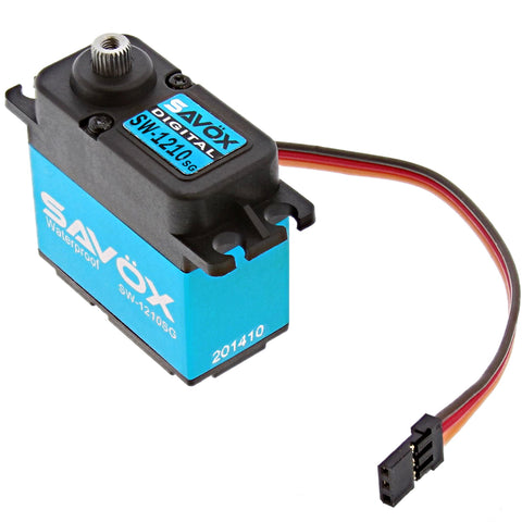 Savox Waterproof Coreless 6.0V Digital Servo .15/277, SW-1210SG