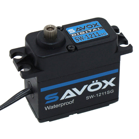 Savox Waterproof HV Coreless Digital 7.4V Servo, Black Ed., SW-1211SG-BE