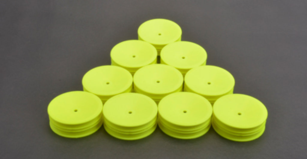SCHU7455 U7455 Slim Wheels, Front, 1/10 2WD, Neon Yellow