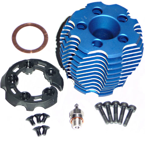 Traxxas 1/10 Slayer Pro 3.3 Cooling Head, Protector, & Glow Plug