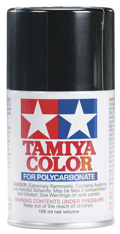 Tamiya PS-5 Polycarb Spray Paint, Black, 86005