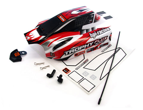 HPI Racing 1/8 Trophy Buggy Flux Red & White Body