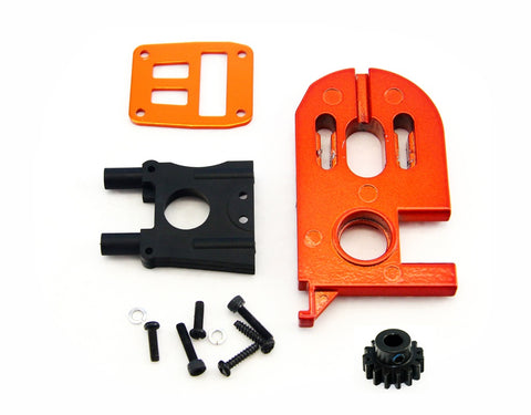 HPI Racing 1/8 Trophy Buggy Flux Motor Mount Set & Pinion Gear