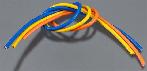 Tq Wire Products 1304 13 Gauge 3' Wire Kit 1' ea Blu/Yllw/Orange, 1304