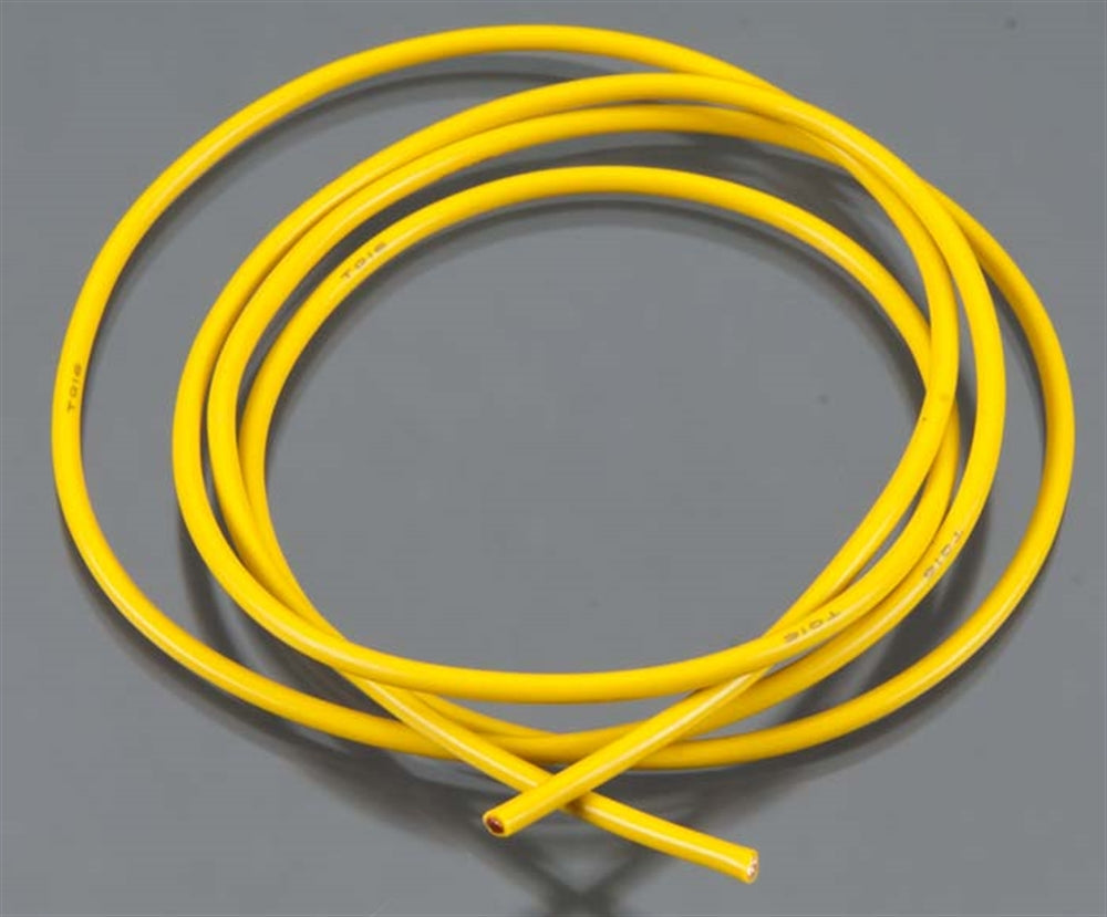 TQW1636 1636 16 Gauge Super Flexible Wire, 3', Yellow