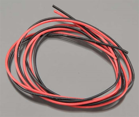 Tq Wire Products 22 Gauge Super Flexible Wire, 3' ea, Black/Red, 2200