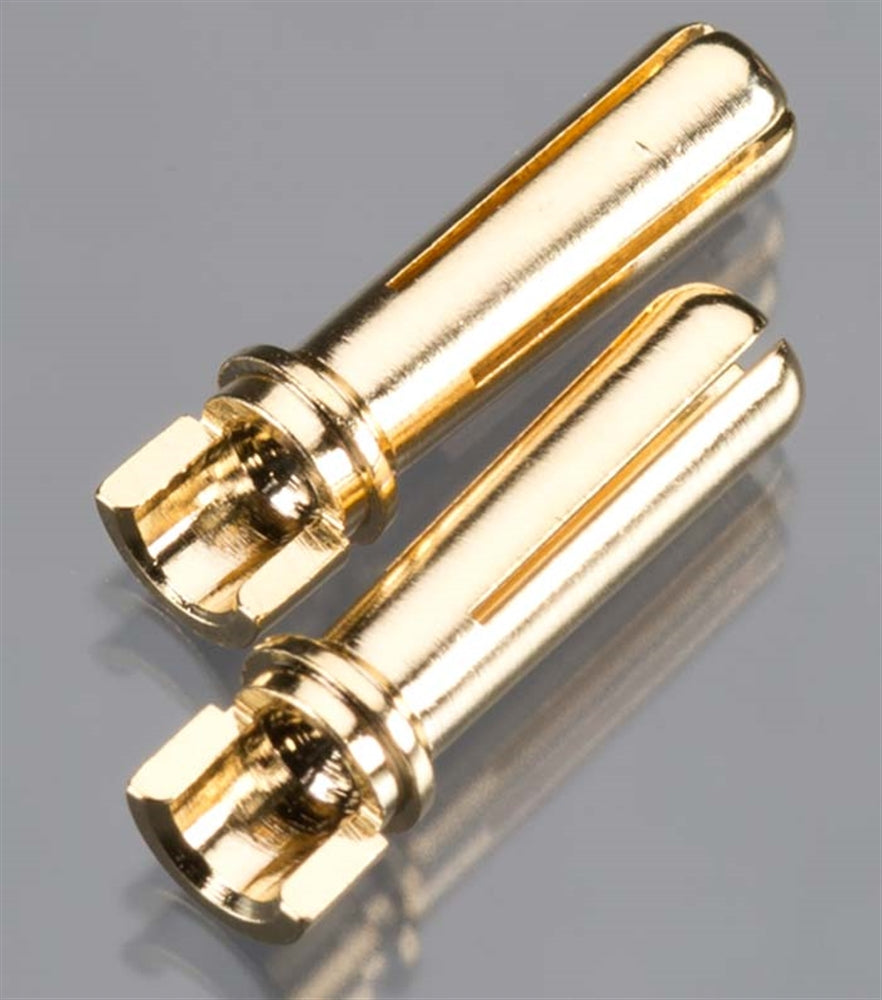 TQW2506 2506 Male Bullet Connector, 4mm/18mm, Narrow, Gold