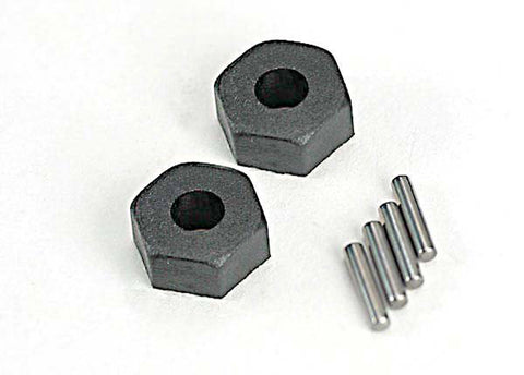 Traxxas Two 12mm Wheel Hex Hubs & Stub Axle Pins, 1654