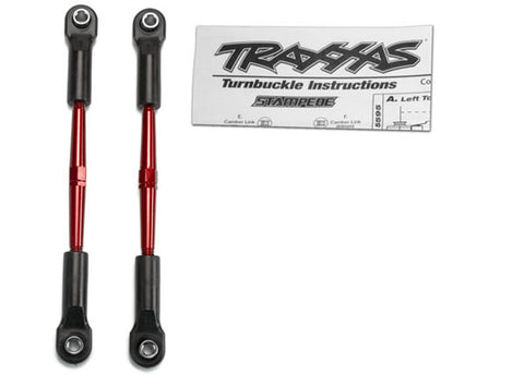 Traxxas 61mm Turnbuckles/Toe Links - Red Aluminum, 2336X