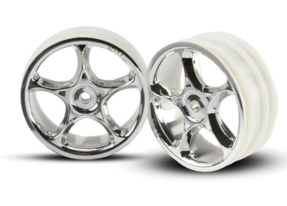 TRA2473 2473 2 Tracer Front Wheels - Chrome