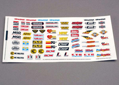 Traxxas Racing Sponsor Decal Sheet, 2514
