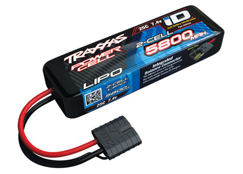 Traxxas Power Cell LiPo Battery 5800mAh 7.4V 25C 2S iD, 2843X