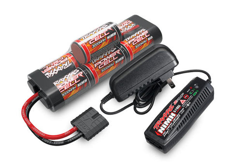 Traxxas Power Cell 7C 8.4V NiMH Battery 3000mAh, AC Charger, 2984