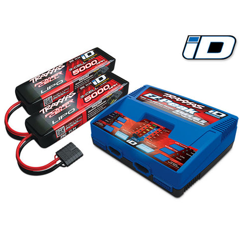Traxxas 3S 5000mAh Battery / iD Charger Completer Pack, 2990