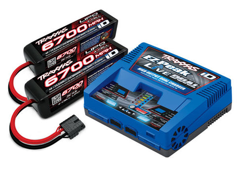 Traxxas 8S 6700mAh Battery / iD Charger Completer Pack, 2997