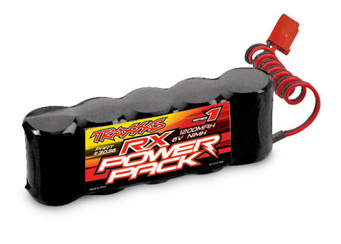 Traxxas 3036 Power Cell 5C 6V NiMH Battery 1200mAh, RX, Flat