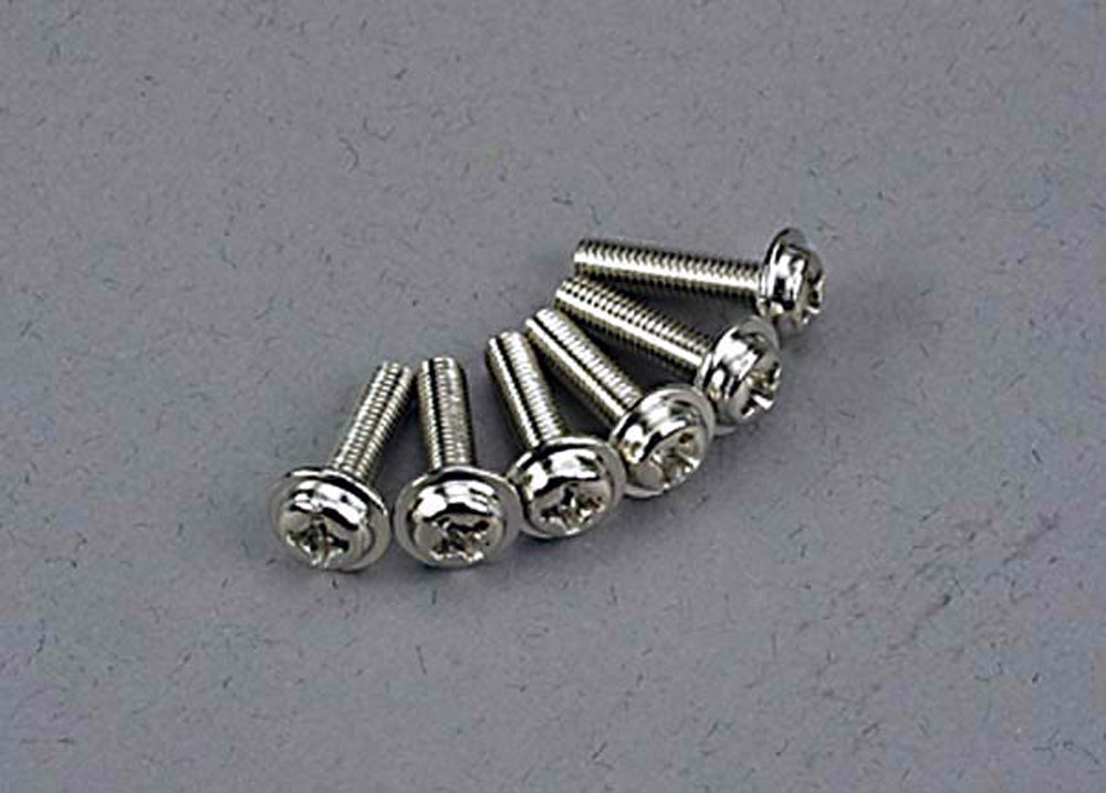 TRA3186 3186 Washerhead Machine Screws, 3x12mm