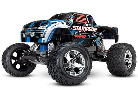 Traxxas Monster Truck, TQ 2.4GHz, Stampede, Blue, 36054-4