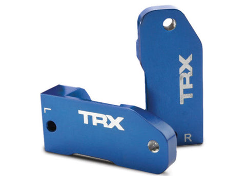 Traxxas Caster Blocks - Left/Right 30 Degree Blue, 3632A