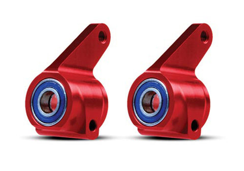 Traxxas 3636X Steering Blocks, Aluminum, Red