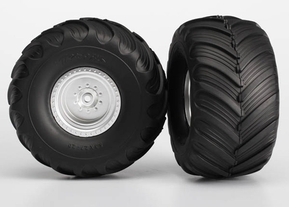 TRA3663 3663 Terra Groove DP Tires, Satin Chrome Wheels, Rear